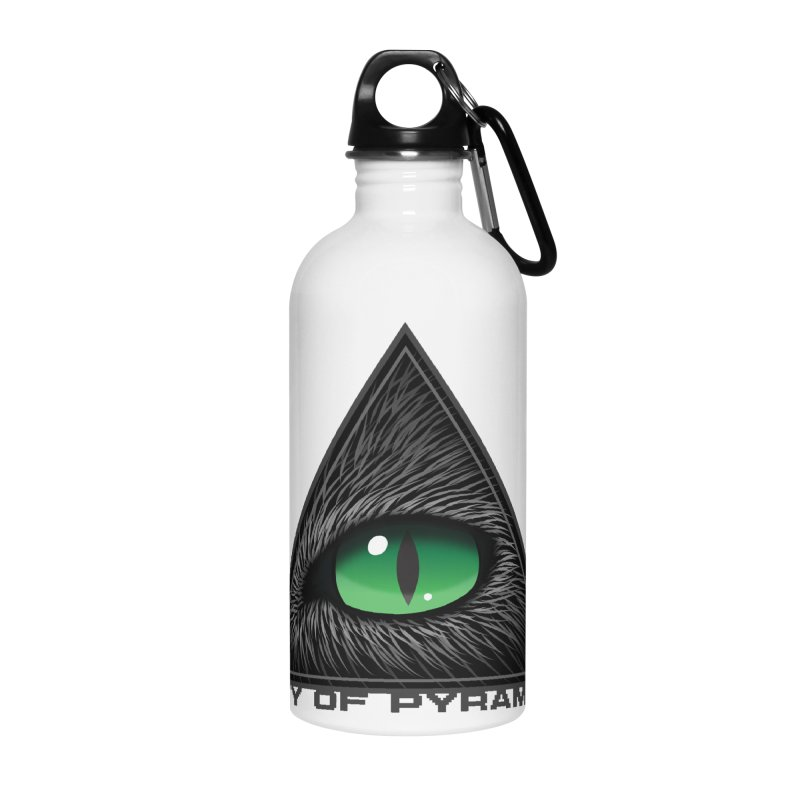 Eyecoic Cat Eye Accessories Water Bottle by City of Pyramids's Artist Shop