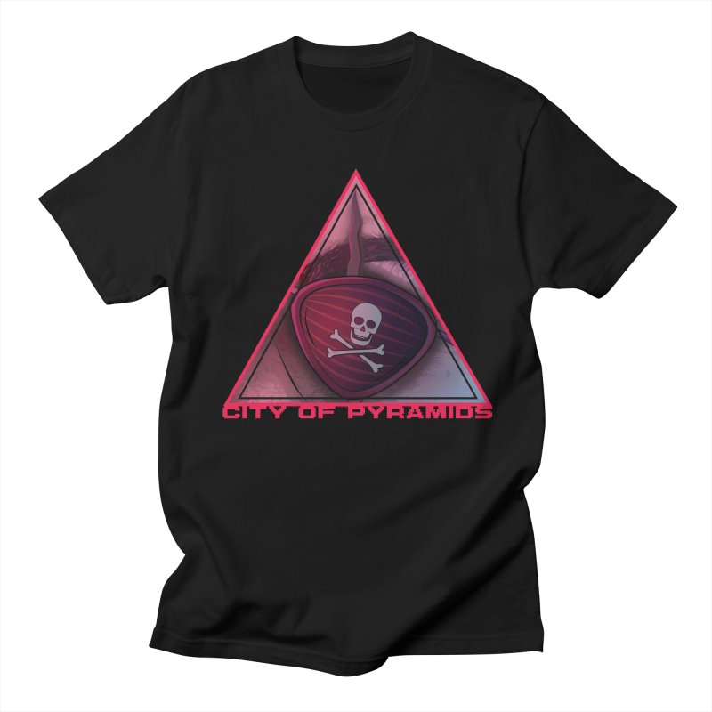 Eyeconic Eyepatch in Men's Regular T-Shirt Black by City of Pyramids's Artist Shop