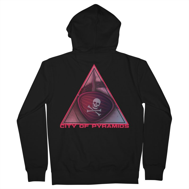 Eyeconic Eyepatch Men's French Terry Zip-Up Hoody by City of Pyramids's Artist Shop