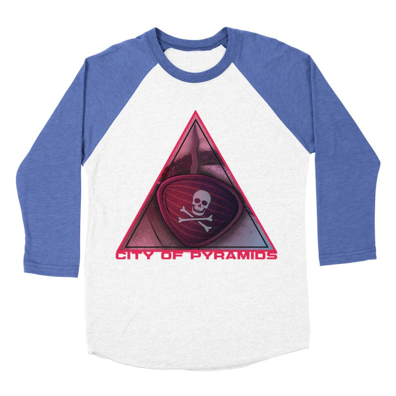 Eyeconic Eyepatch Women's Baseball Triblend Longsleeve T-Shirt by City of Pyramids's Artist Shop