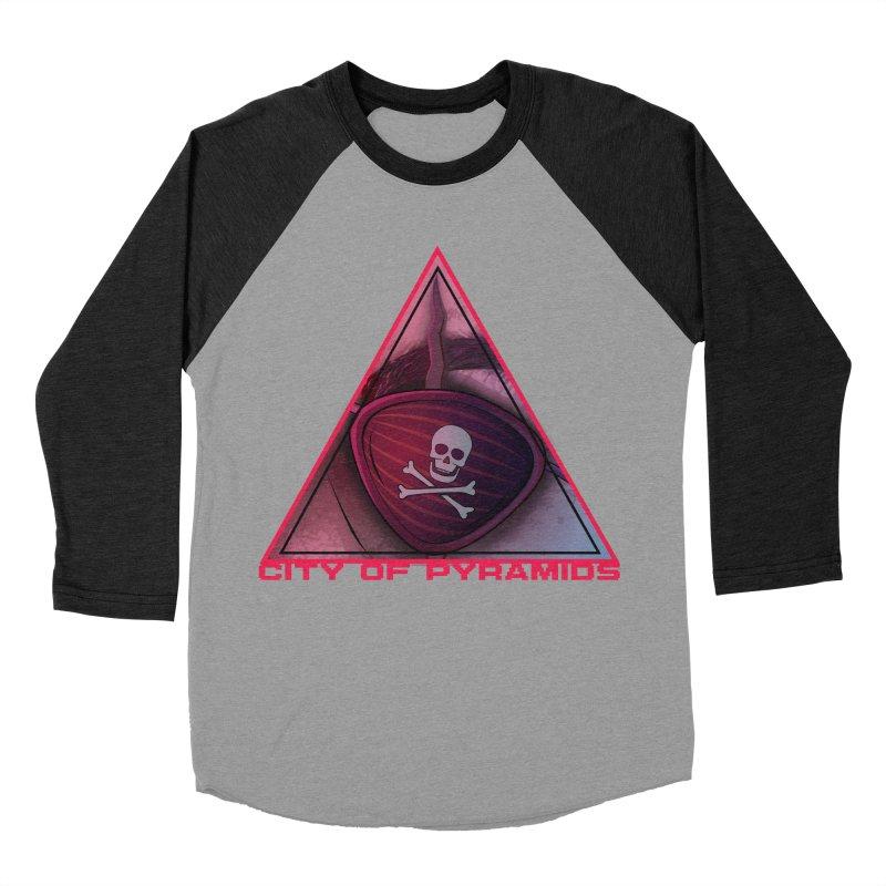 Eyeconic Eyepatch Women's Baseball Triblend Longsleeve T-Shirt by City of Pyramids's Artist Shop