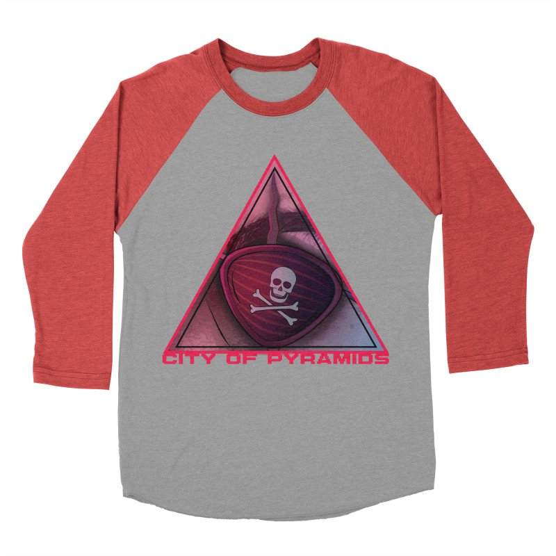 Eyeconic Eyepatch Men's Baseball Triblend Longsleeve T-Shirt by City of Pyramids's Artist Shop