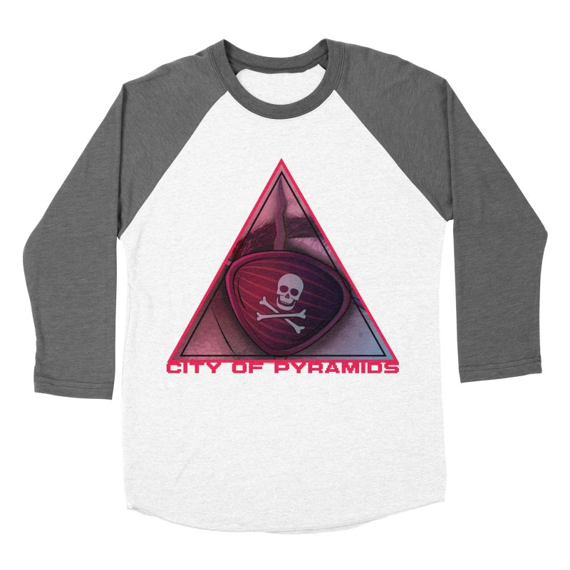 Eyeconic Eyepatch Men's Baseball Triblend Longsleeve T-Shirt by City of Pyramids's Artist Shop