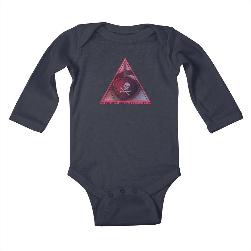 Eyeconic Eyepatch Kids Baby Longsleeve Bodysuit by City of Pyramids's Artist Shop