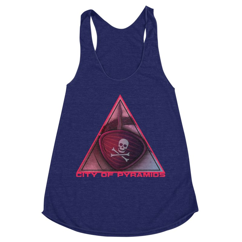 Eyeconic Eyepatch Women's Racerback Triblend Tank by City of Pyramids's Artist Shop