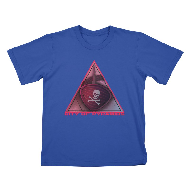 Eyeconic Eyepatch Kids T-Shirt by City of Pyramids's Artist Shop