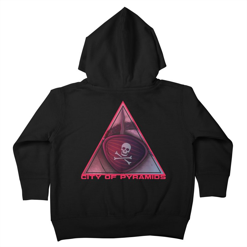 Eyeconic Eyepatch Kids Toddler Zip-Up Hoody by City of Pyramids's Artist Shop