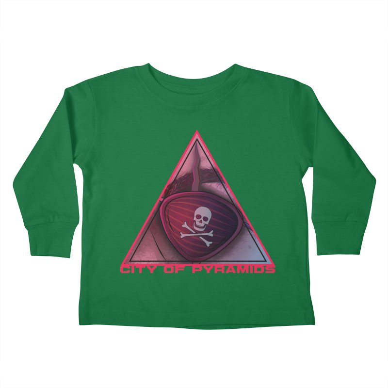 Eyeconic Eyepatch Kids Toddler Longsleeve T-Shirt by City of Pyramids's Artist Shop