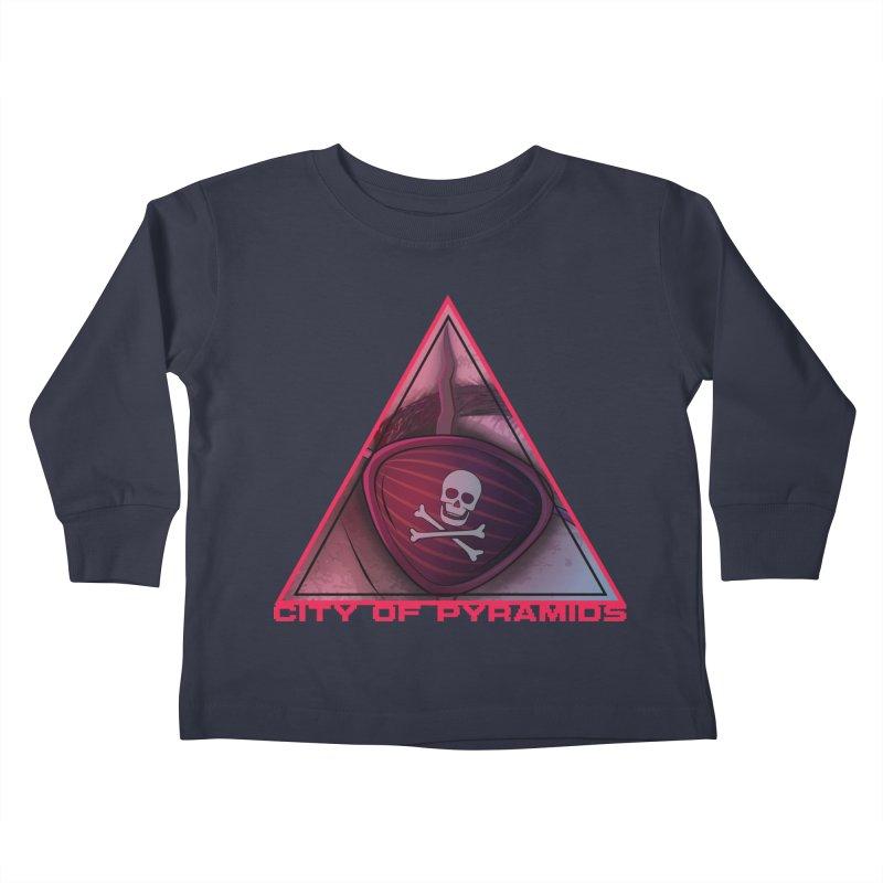 Eyeconic Eyepatch Kids Toddler Longsleeve T-Shirt by City of Pyramids's Artist Shop