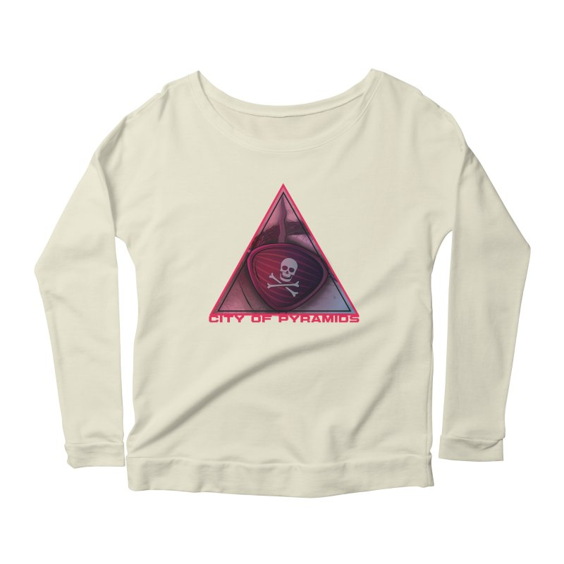 Eyeconic Eyepatch Women's Scoop Neck Longsleeve T-Shirt by City of Pyramids's Artist Shop