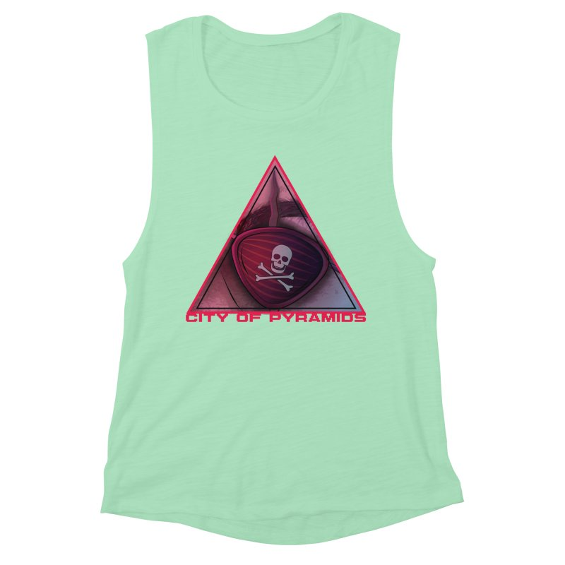 Eyeconic Eyepatch Women's Muscle Tank by City of Pyramids's Artist Shop