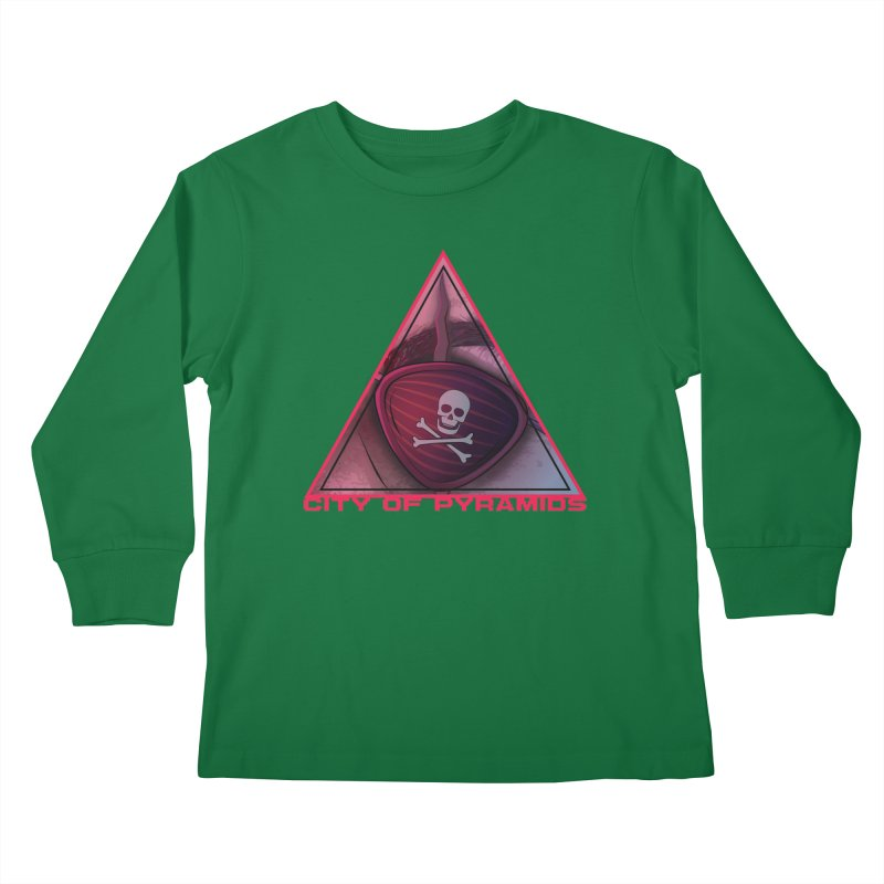 Eyeconic Eyepatch Kids Longsleeve T-Shirt by City of Pyramids's Artist Shop
