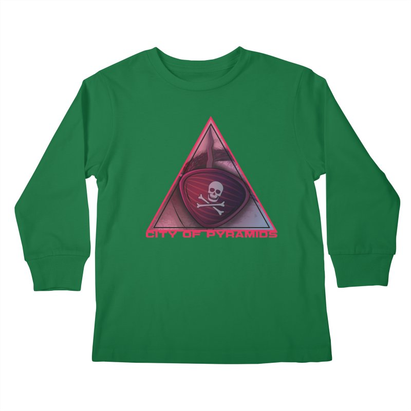 Eyeconic Eyepatch Kids Longsleeve T-Shirt by City of Pyramids's Artist Shop