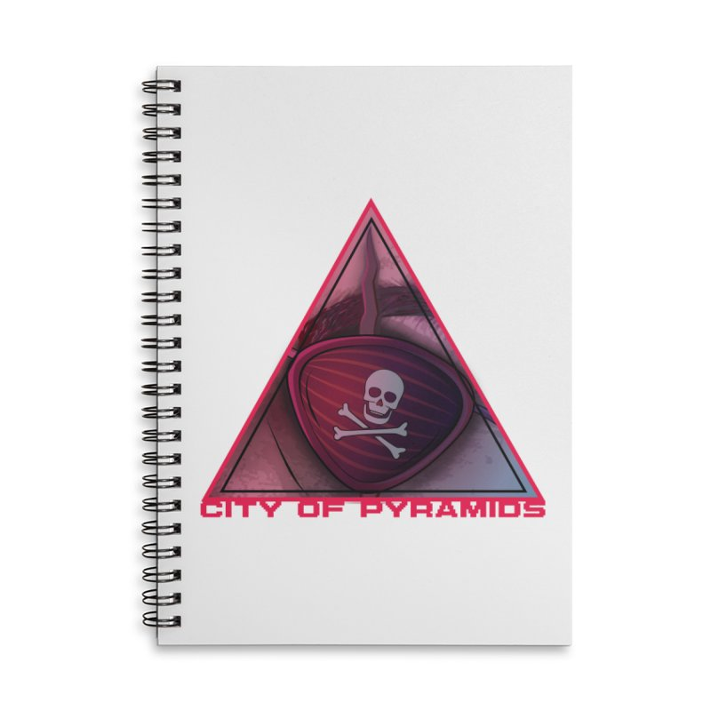 Eyeconic Eyepatch Accessories Lined Spiral Notebook by City of Pyramids's Artist Shop