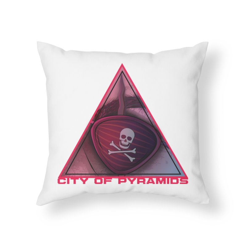 Eyeconic Eyepatch Home Throw Pillow by City of Pyramids's Artist Shop