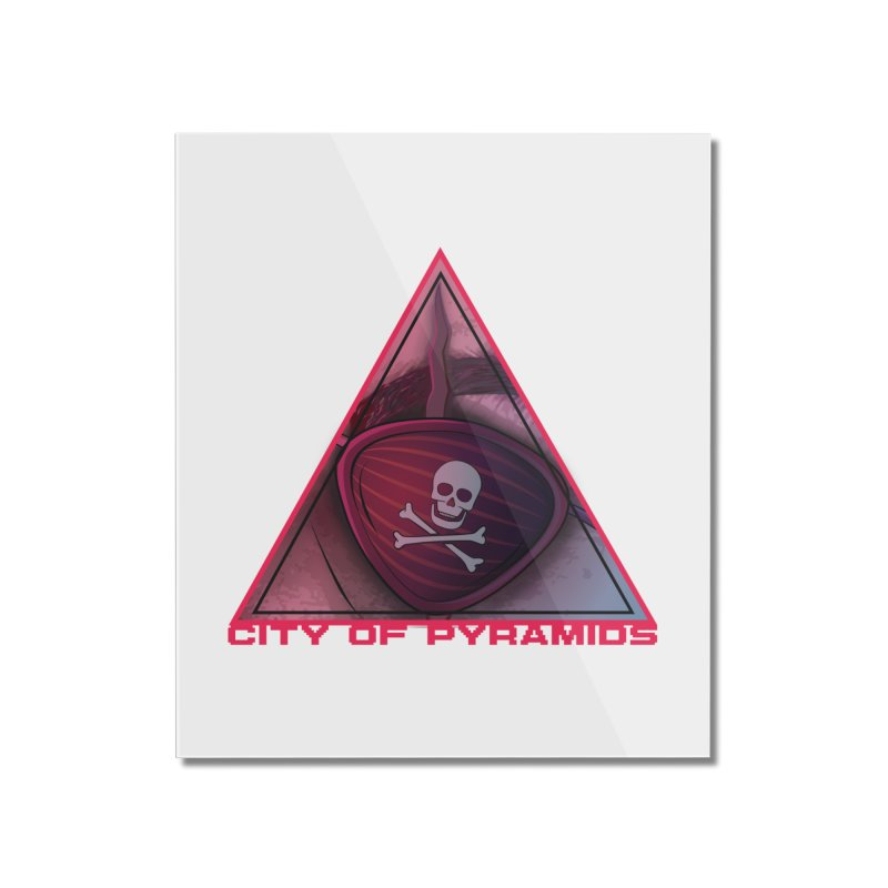 Eyeconic Eyepatch Home Mounted Acrylic Print by City of Pyramids's Artist Shop