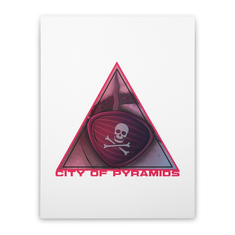 Eyeconic Eyepatch Home Stretched Canvas by City of Pyramids's Artist Shop