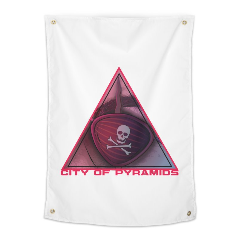 Eyeconic Eyepatch Home Tapestry by City of Pyramids's Artist Shop