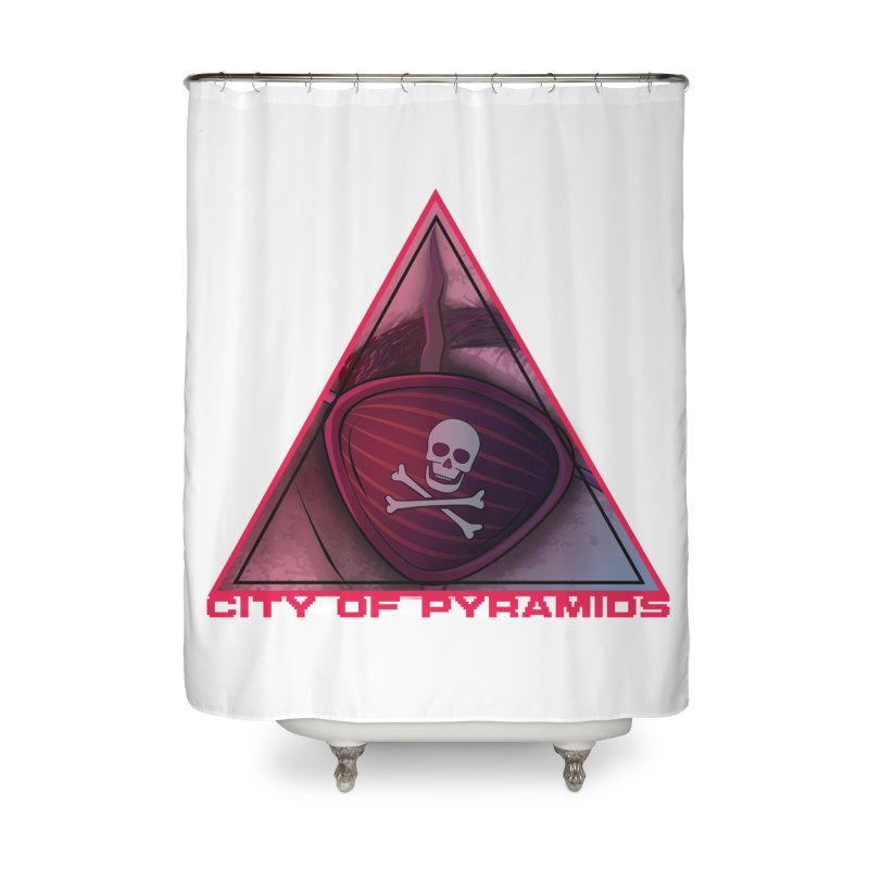Eyeconic Eyepatch Home Shower Curtain by City of Pyramids's Artist Shop