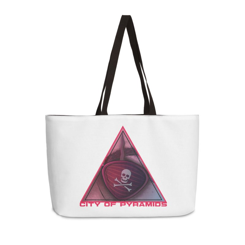 Eyeconic Eyepatch Accessories Weekender Bag Bag by City of Pyramids's Artist Shop