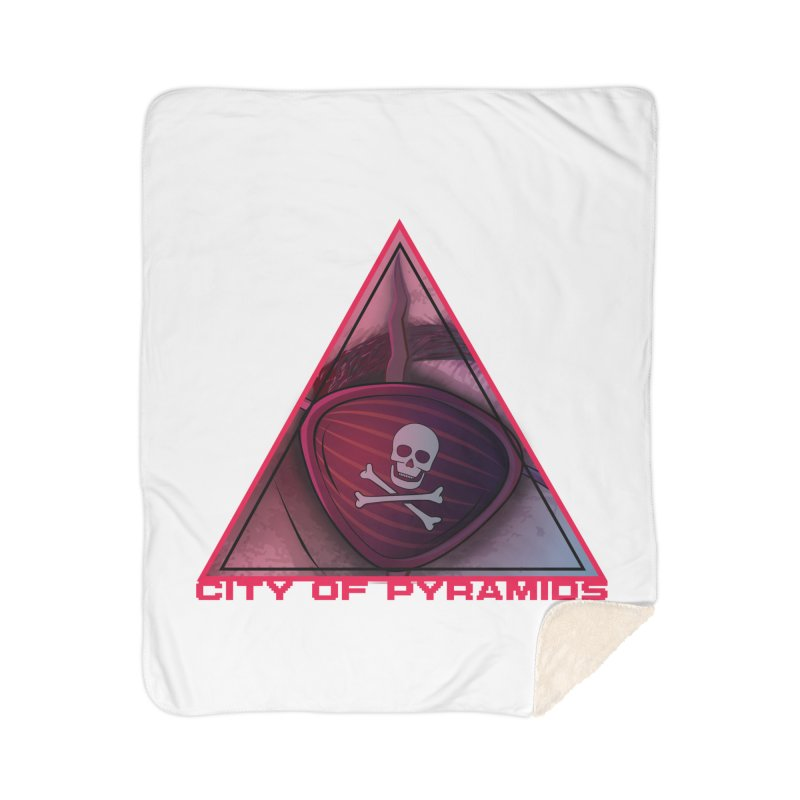 Eyeconic Eyepatch Home Sherpa Blanket Blanket by City of Pyramids's Artist Shop