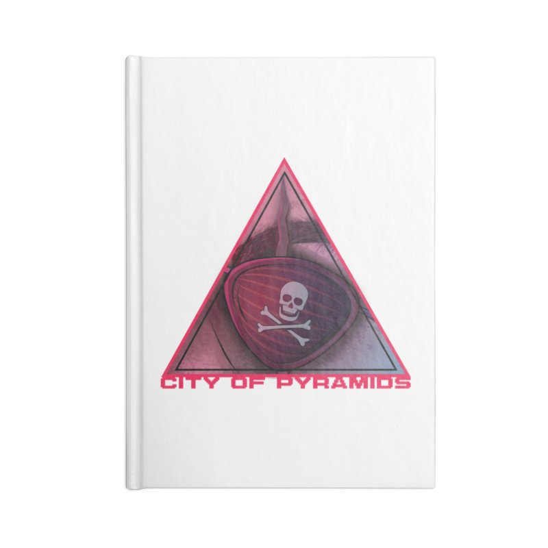 Eyeconic Eyepatch Accessories Lined Journal Notebook by City of Pyramids's Artist Shop