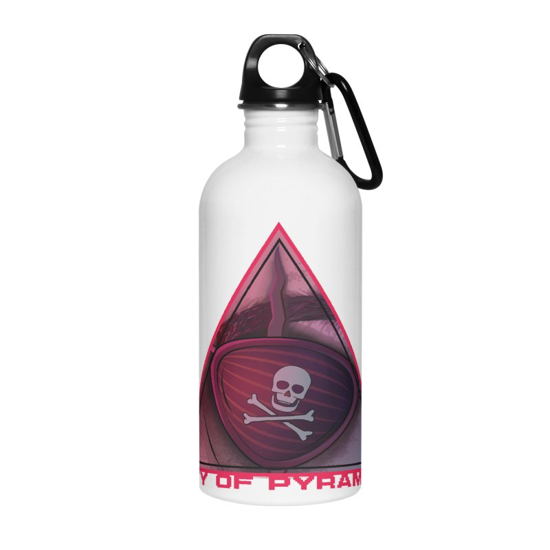 Eyeconic Eyepatch Accessories Water Bottle by City of Pyramids's Artist Shop