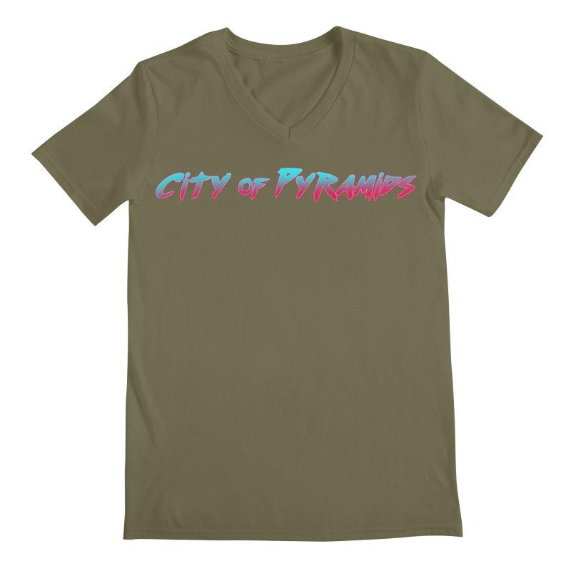 City of Pyramids Men's Regular V-Neck by City of Pyramids's Artist Shop