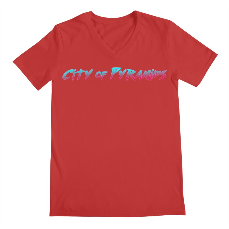 City of Pyramids Men's Regular V-Neck by City of Pyramids's Artist Shop