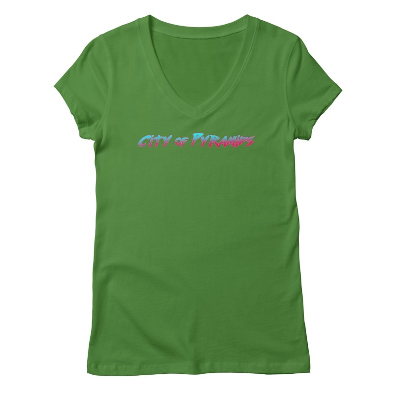 City of Pyramids Women's Regular V-Neck by City of Pyramids's Artist Shop