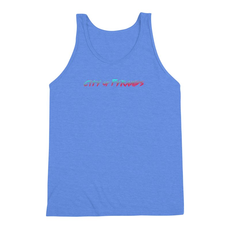 City of Pyramids Men's Triblend Tank by City of Pyramids's Artist Shop