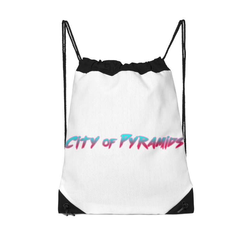 City of Pyramids Accessories Drawstring Bag Bag by City of Pyramids's Artist Shop