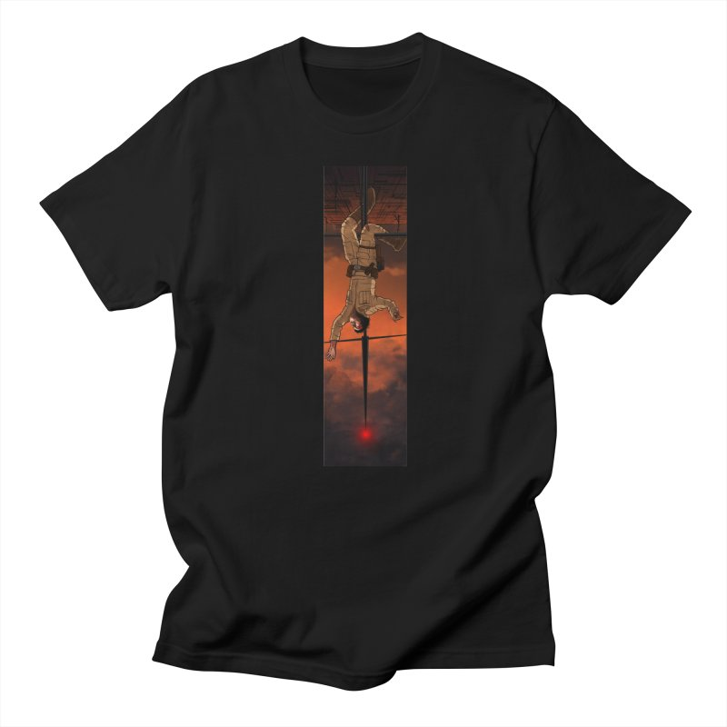 Hang in There-Luke in Men's Regular T-Shirt Black by City of Pyramids's Artist Shop