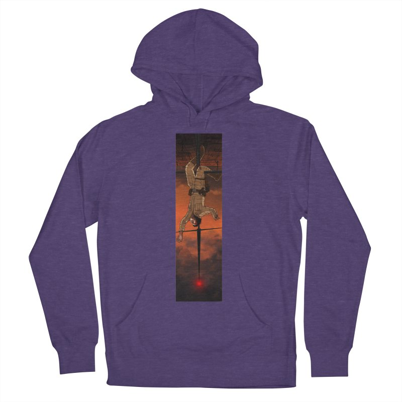 Hang in There-Luke Men's French Terry Pullover Hoody by City of Pyramids's Artist Shop