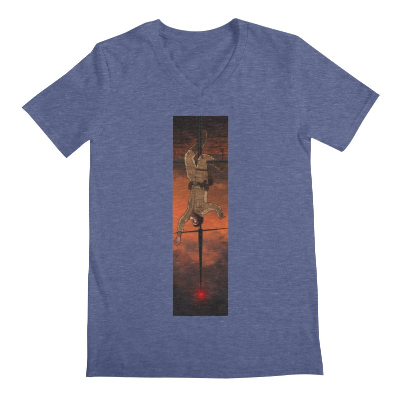 Hang in There-Luke Men's Regular V-Neck by City of Pyramids's Artist Shop