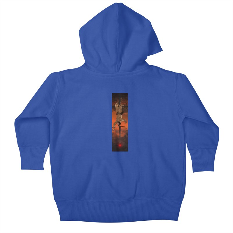 Hang in There-Luke Kids Baby Zip-Up Hoody by City of Pyramids's Artist Shop