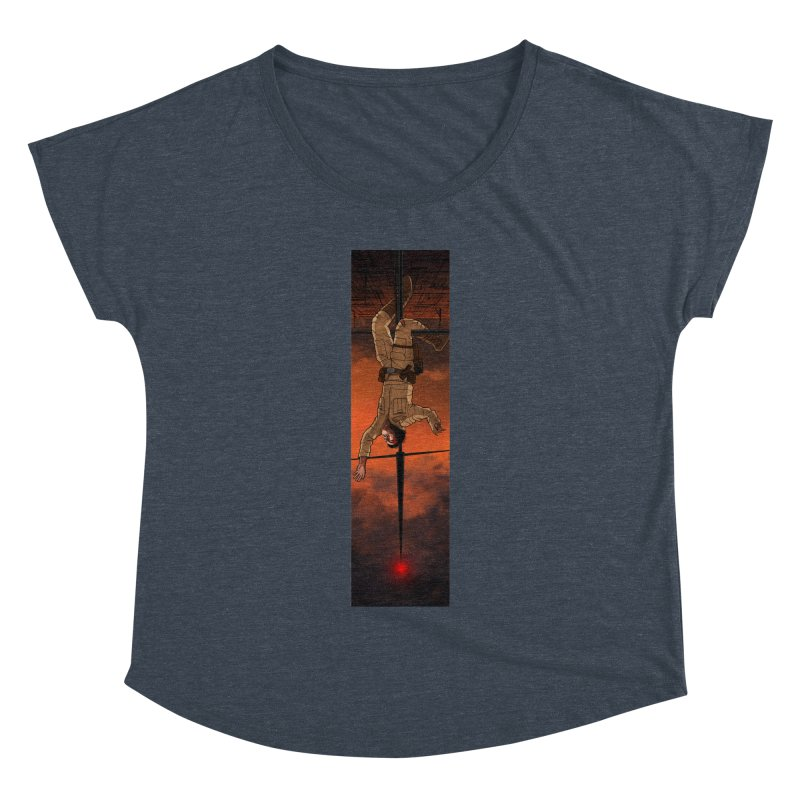 Hang in There-Luke Women's Dolman Scoop Neck by City of Pyramids's Artist Shop