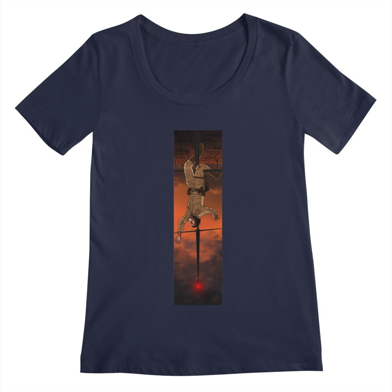 Hang in There-Luke Women's Regular Scoop Neck by City of Pyramids's Artist Shop