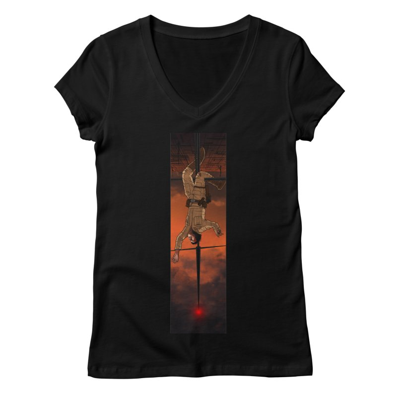 Hang in There-Luke Women's Regular V-Neck by City of Pyramids's Artist Shop