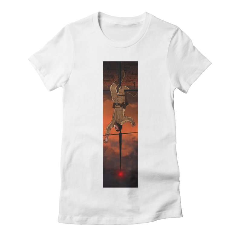 Hang in There-Luke Women's Fitted T-Shirt by City of Pyramids's Artist Shop