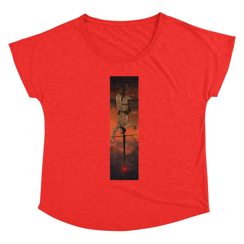 Hang in There-Luke Women's Scoop Neck by City of Pyramids's Artist Shop