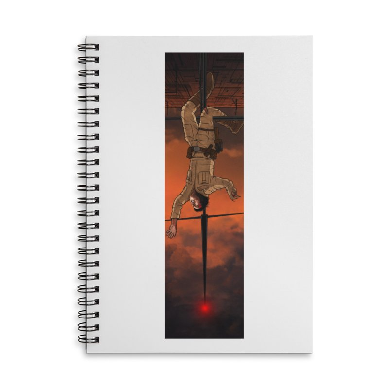 Hang in There-Luke Accessories Lined Spiral Notebook by City of Pyramids's Artist Shop