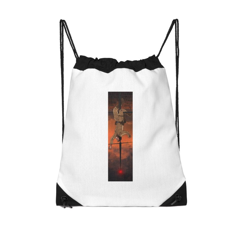 Hang in There-Luke Accessories Drawstring Bag Bag by City of Pyramids's Artist Shop