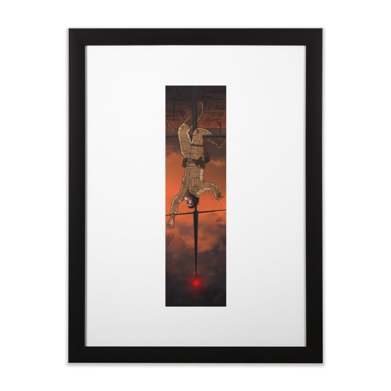 Hang in There-Luke Home Framed Fine Art Print by City of Pyramids's Artist Shop