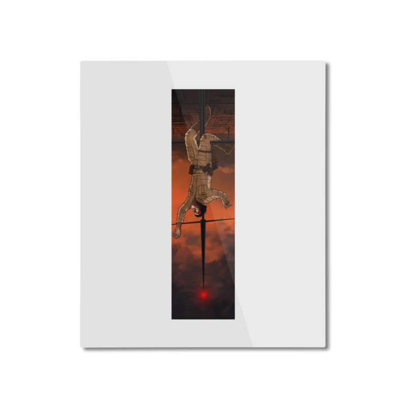 Hang in There-Luke Home Mounted Aluminum Print by City of Pyramids's Artist Shop