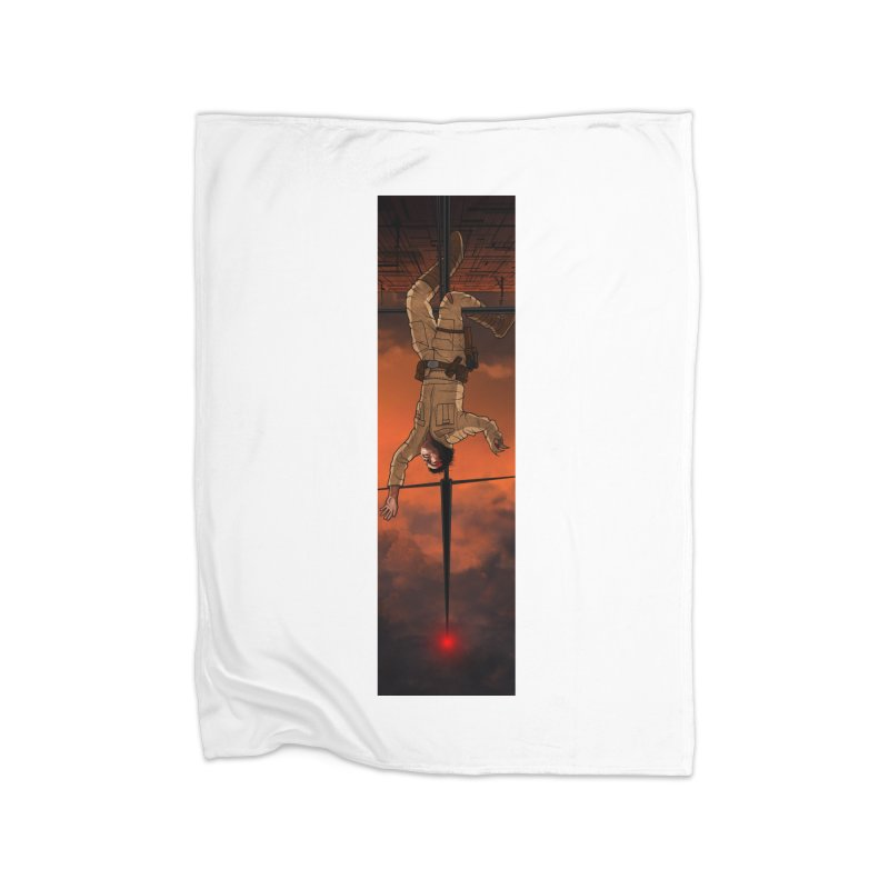 Hang in There-Luke Home Fleece Blanket Blanket by City of Pyramids's Artist Shop