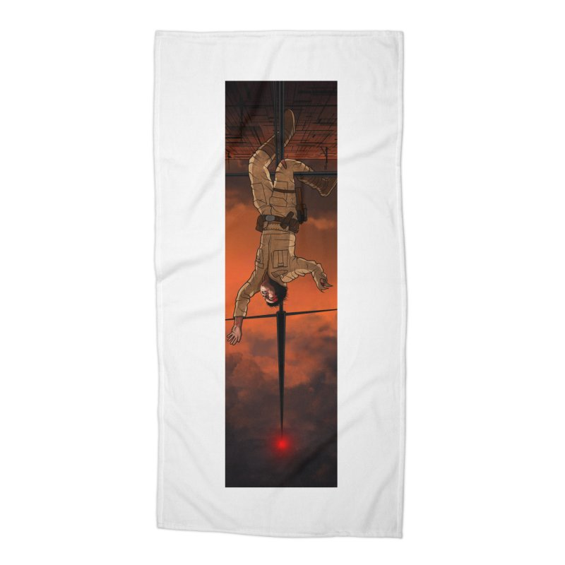 Hang in There-Luke Accessories Beach Towel by City of Pyramids's Artist Shop