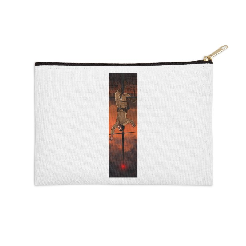 Hang in There-Luke Accessories Zip Pouch by City of Pyramids's Artist Shop