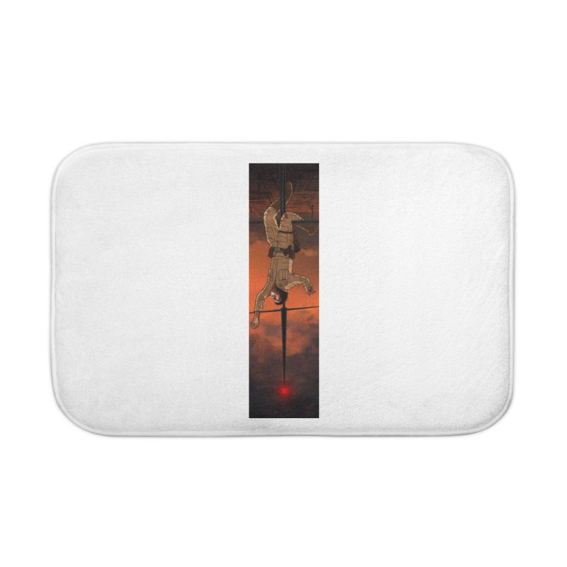 Hang in There-Luke Home Bath Mat by City of Pyramids's Artist Shop