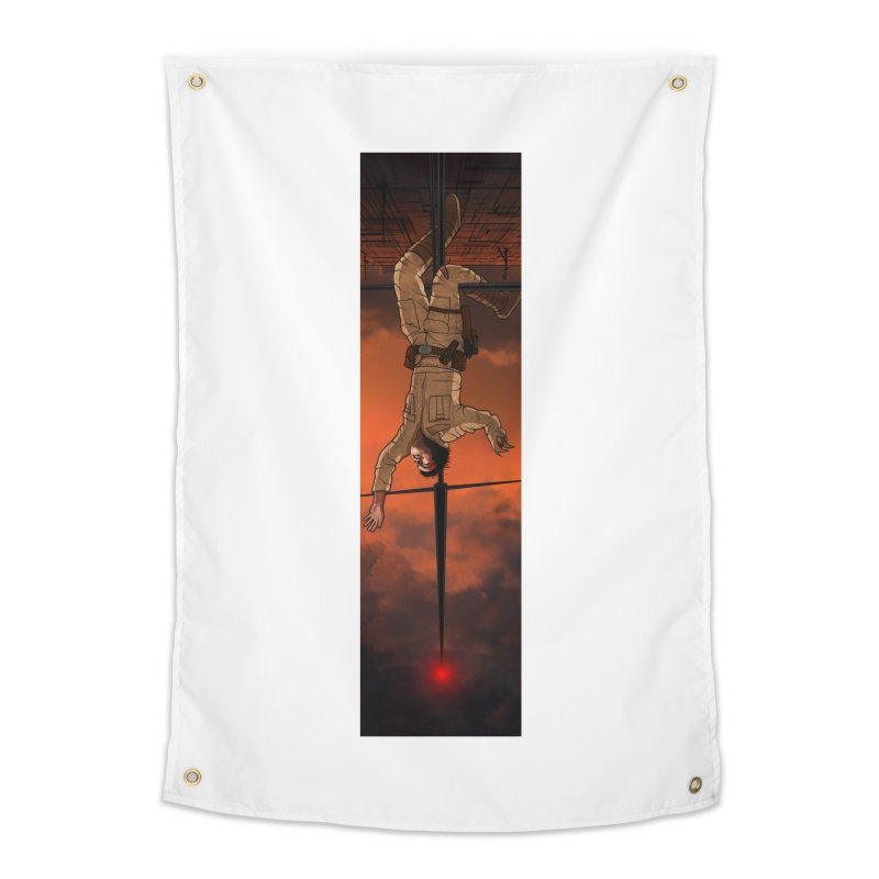 Hang in There-Luke Home Tapestry by City of Pyramids's Artist Shop